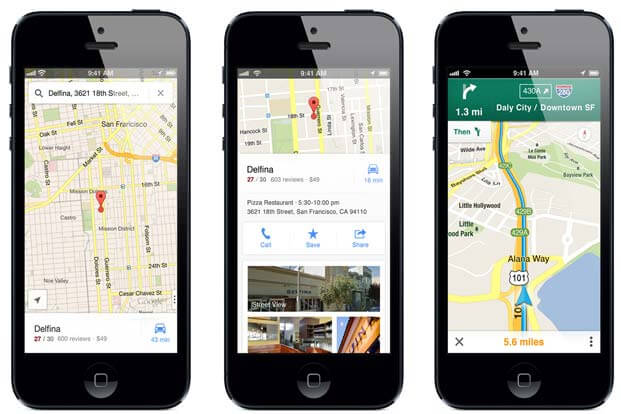 Google Maps App Supporting iPhone X